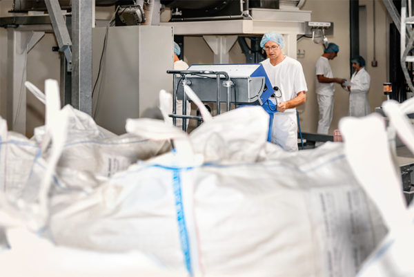 Following consultation at the customer, the food ingredients are produced at Loryma with great care